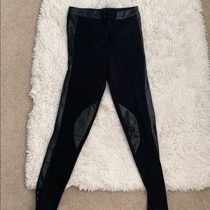 Black Pants W/ Leather Detailing